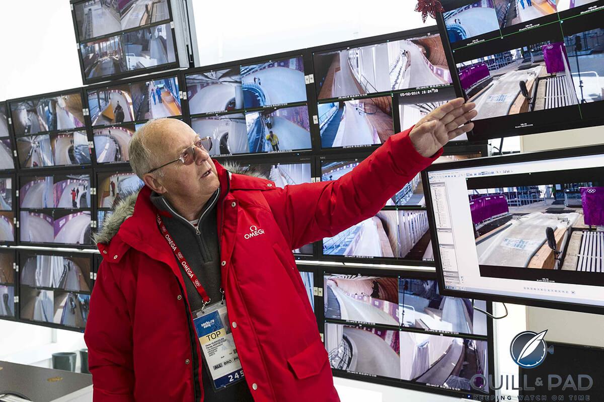 Peter Huerzeler in Sochi timing room