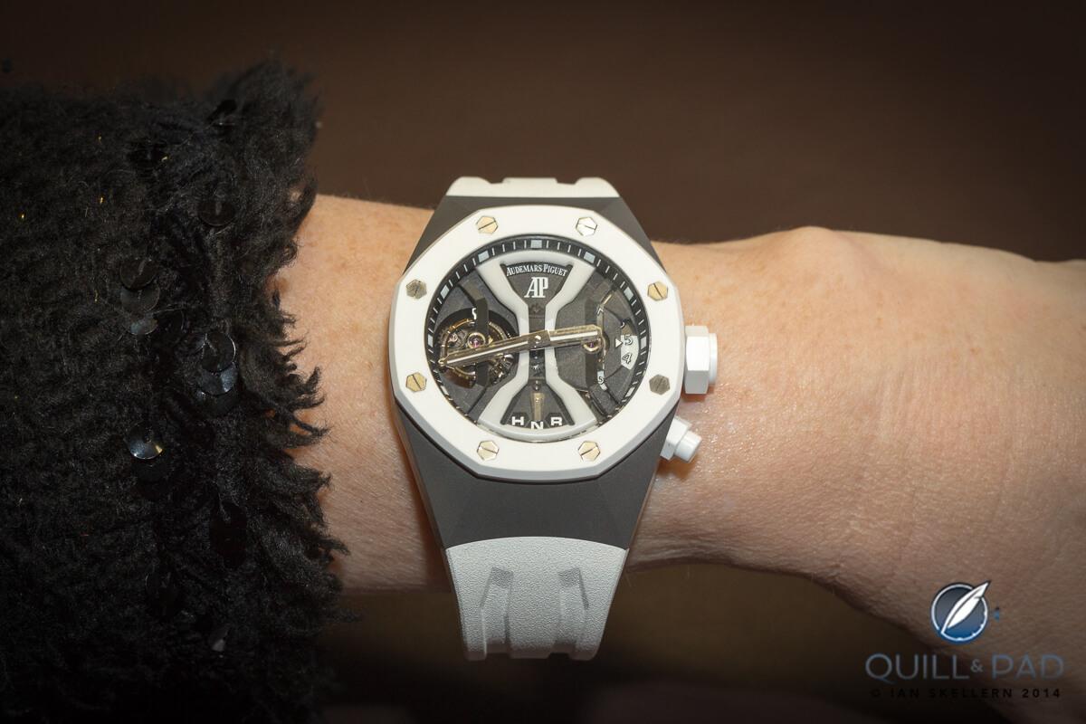 Audemars Piguet Royal Oak Concept GMT Tourbillon on the wrist