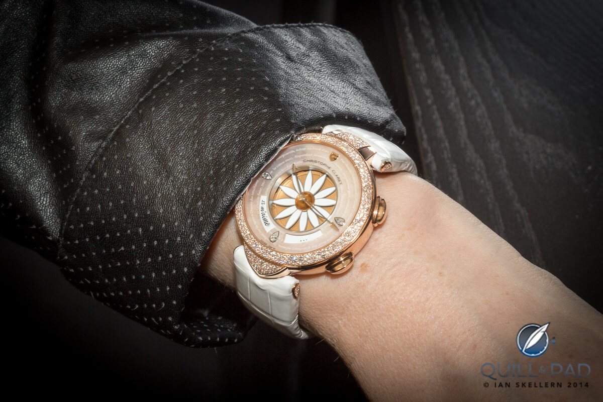 Christophe Claret Margot on the wrist