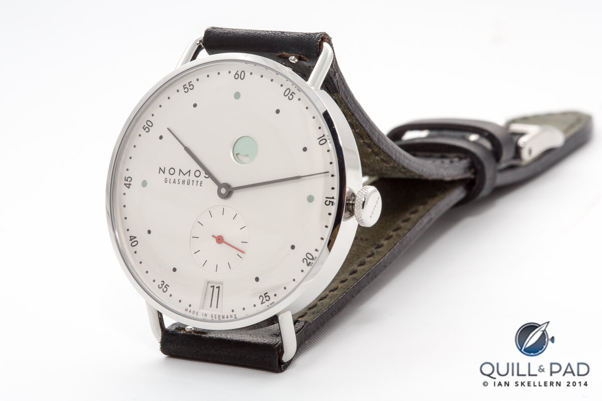 Nomos Metro with new Swing System escapement