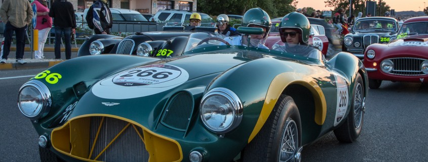 Thierry Lombard and Mathias Beche driving a sensually sculptured 1953 Aston Marin DB3