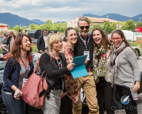 Jeremy Irons and friends before the start of the 2014 Mille Miglia