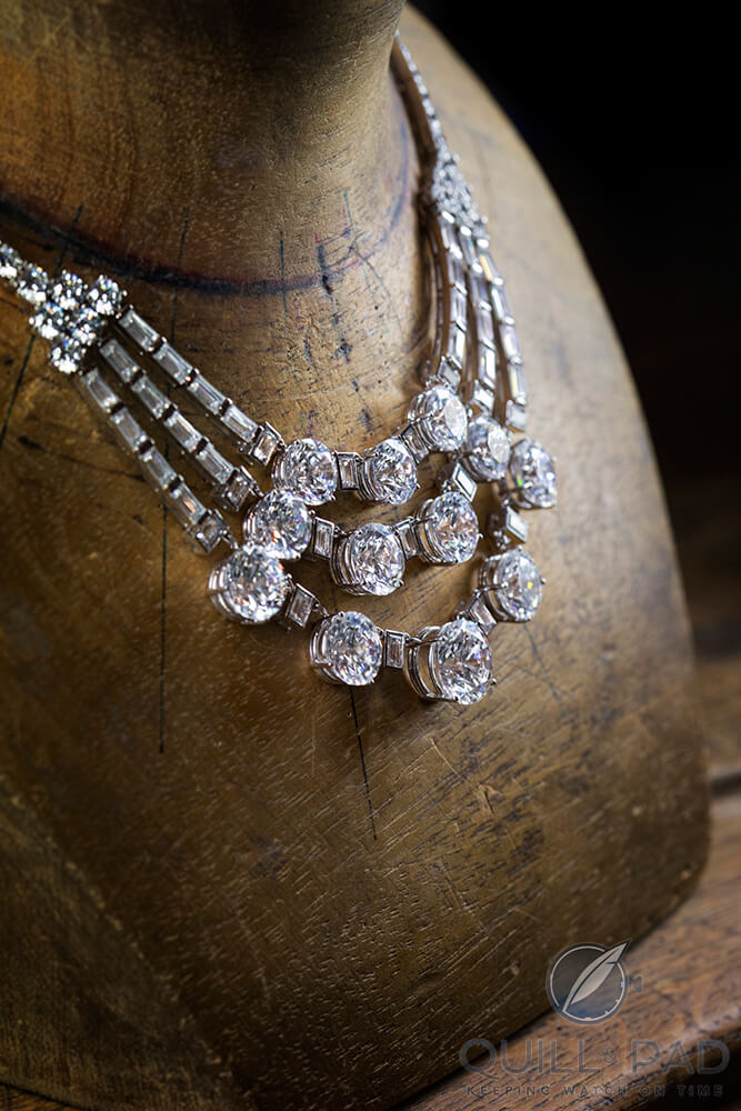 Reproduction of Grace Kelly's 1953 three strands diamond necklace