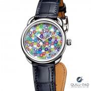 Colorful dial of the Hermes Arceau Millefiori