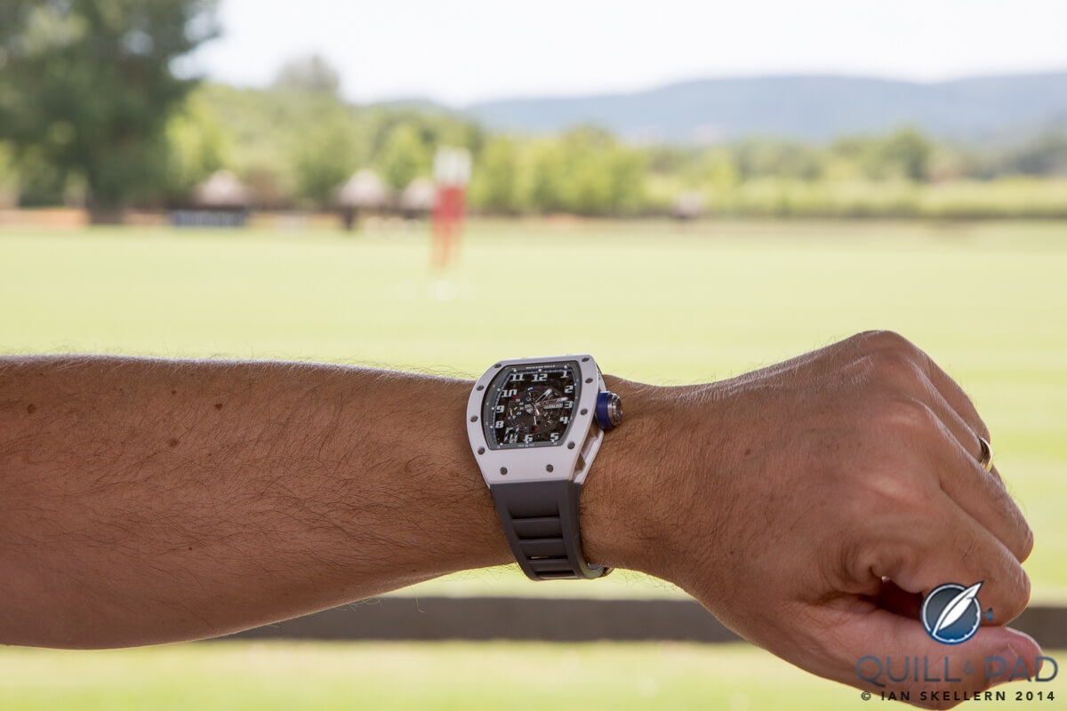 Richard Mille RM030 Polo de Saint Tropez on the wrist