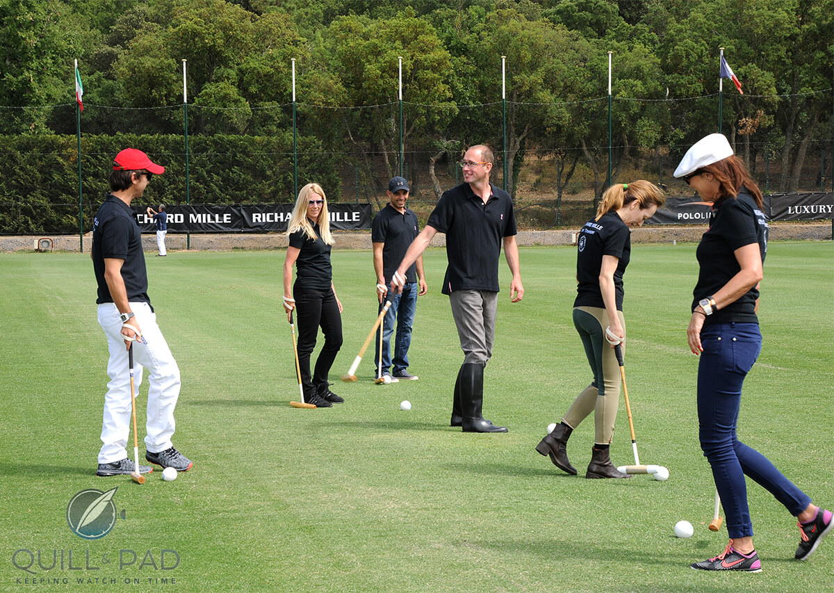 Polo clinic with Pablo Mac Donoughat the Saint Tropez Polo Club hosted by Richard Mille