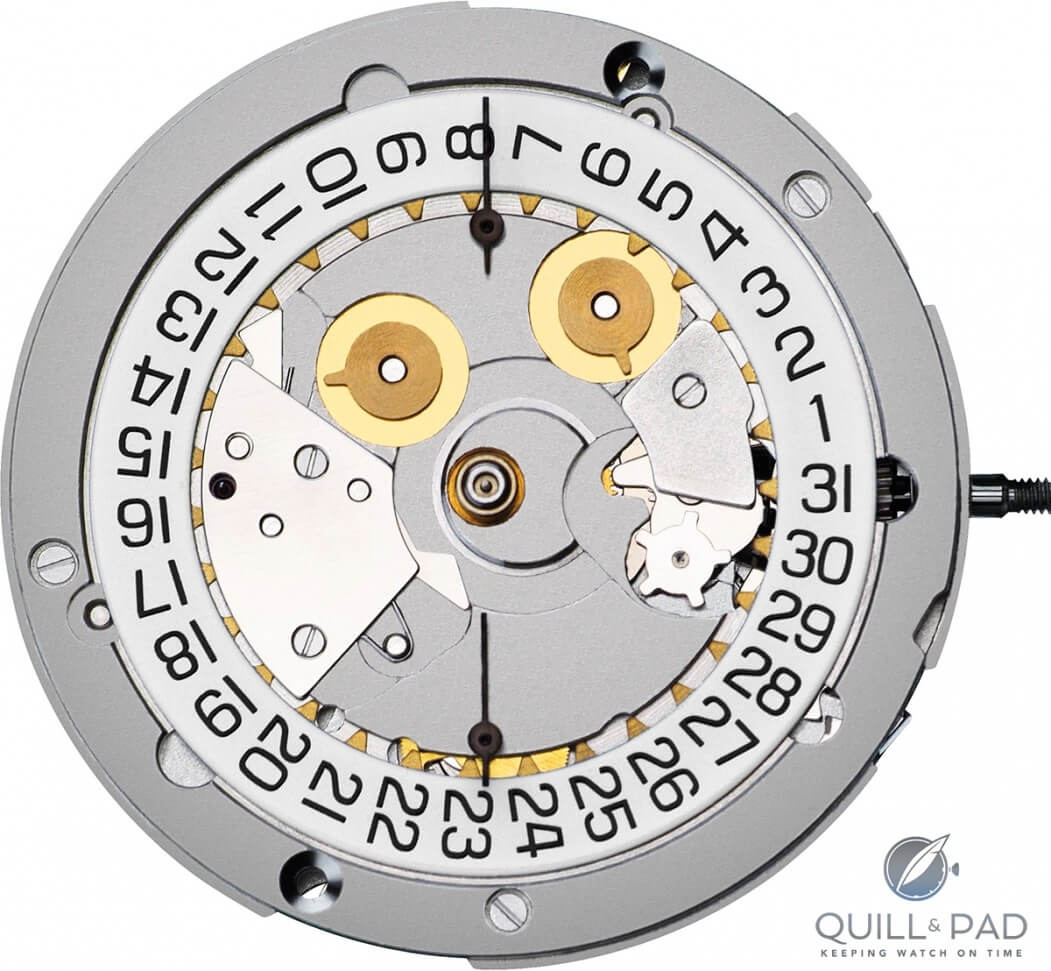 Dial side of Valjoux 7750