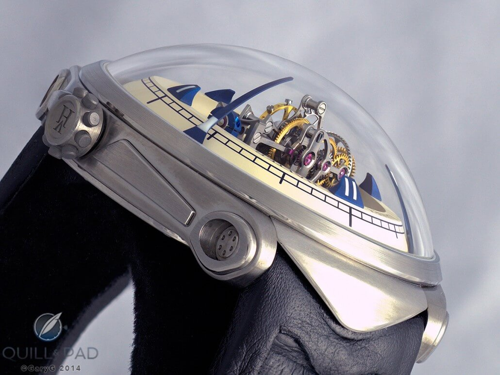 Side view of the Vianney Halter Deep Space Tourbillon