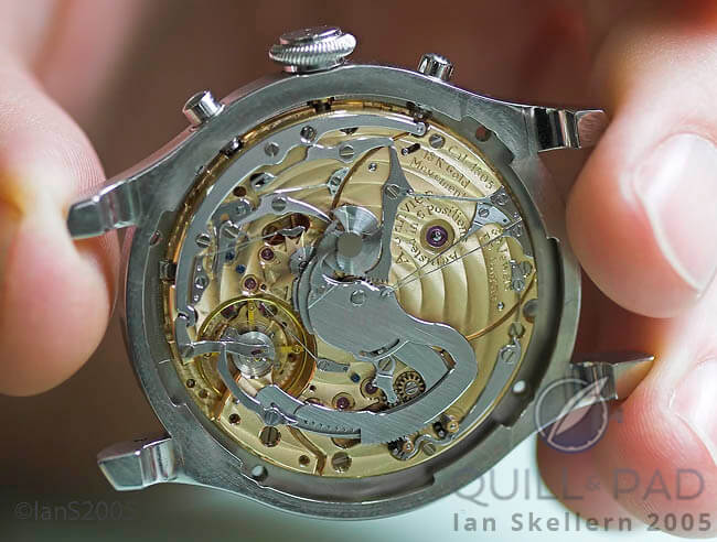 View of the intricate mechanism of the first F.P. Journe Sonnerie Souveraine