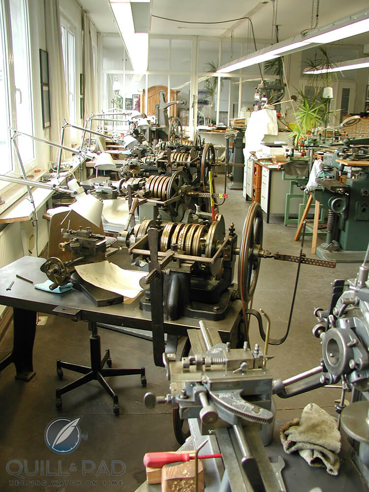 Guilloche machines in Jochen Benzinger's Pforzheim workshop