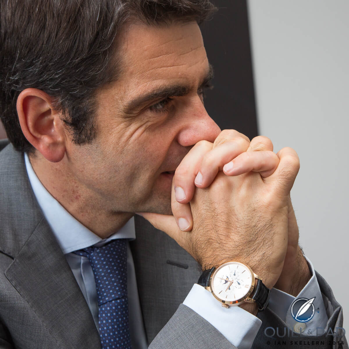 Montblanc CEO Jérôme Lambert wearing a Heritage Perpetual Calendar