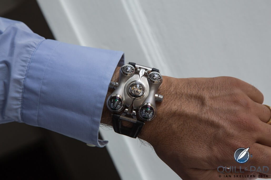 Horological Machine No. 6 (HM6) on the wrist