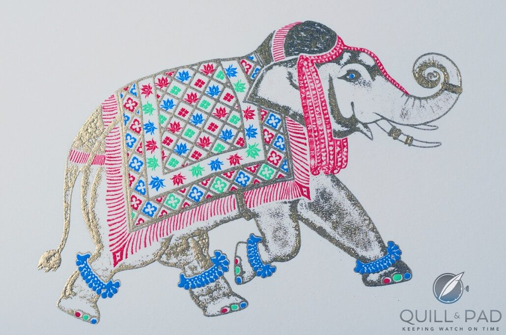 Hand-painted elephant-themed note cards by  Bernard Maisner