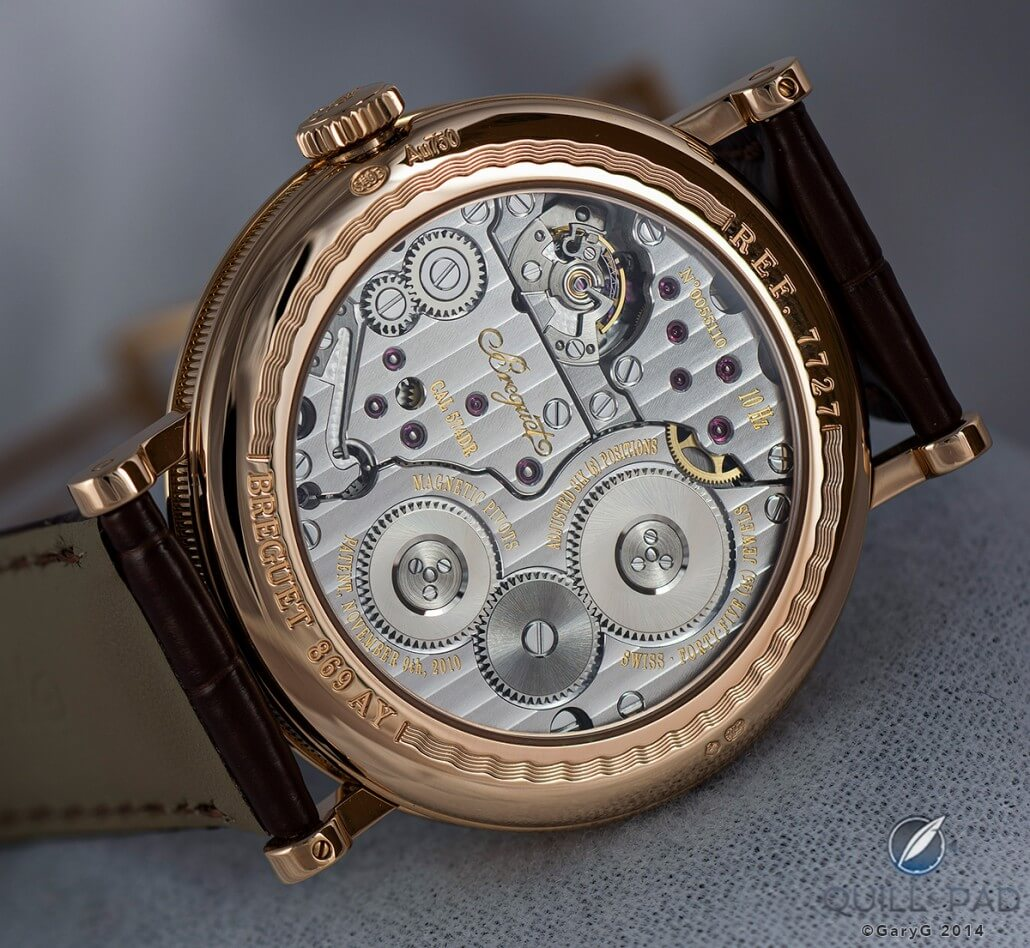 An initial look at the movement of the Breguet Classique Chronométrie Reference 7727