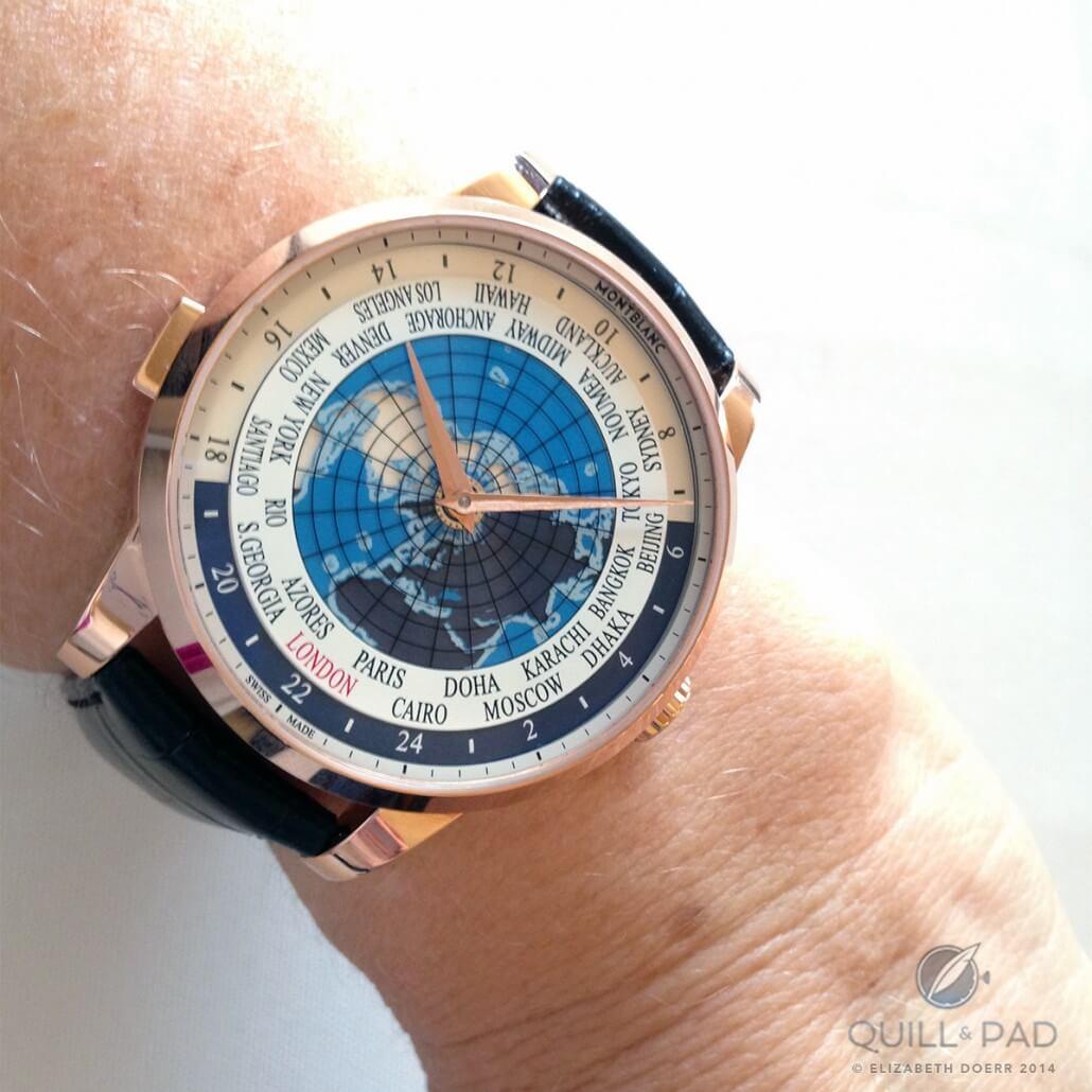 Montblanc Heritage Spirit Orbis Terrarum on the wrist