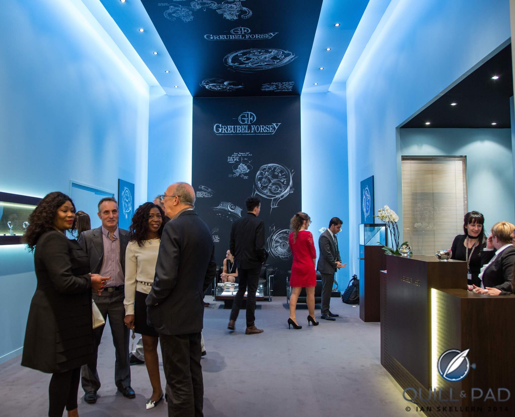 The Greubel Forsey stand at the 2014 SIHH