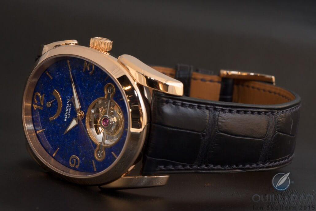 Parmigiani Oval Tourbillon with lapis lazuli dial
