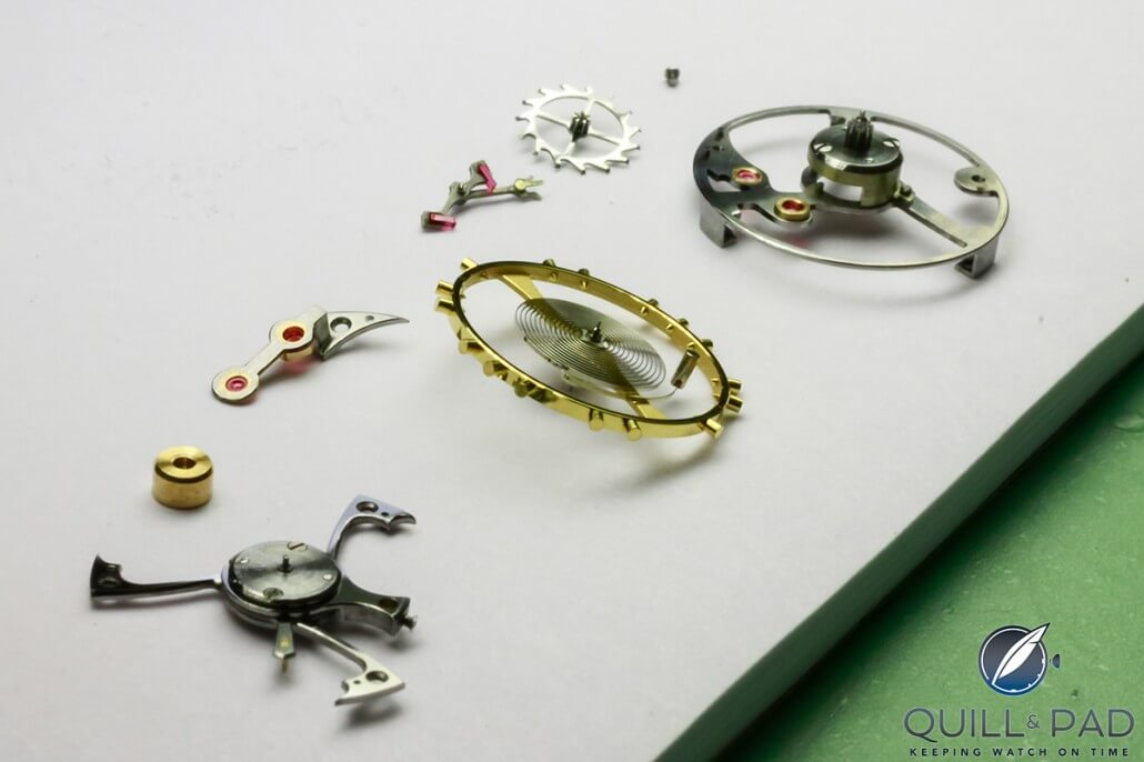 Tourbillon and escapement components for the RGM Pennsylvania Tourbillon