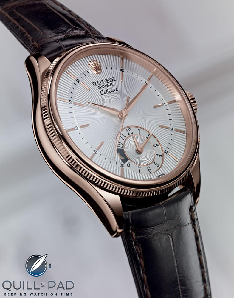 Rolex Cellini Dual Time in Everose (pink) gold with light dial