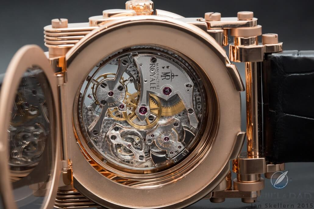 View through the display back of Opera by Manufacture Royale