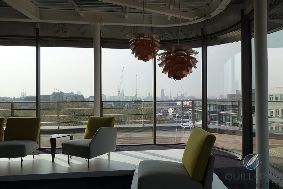 View over London from the Phillips auction preview in Mayfair