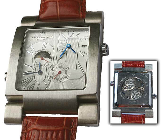 The funky case is a bright red flag for this 100 percent fake Vacheron Constantin