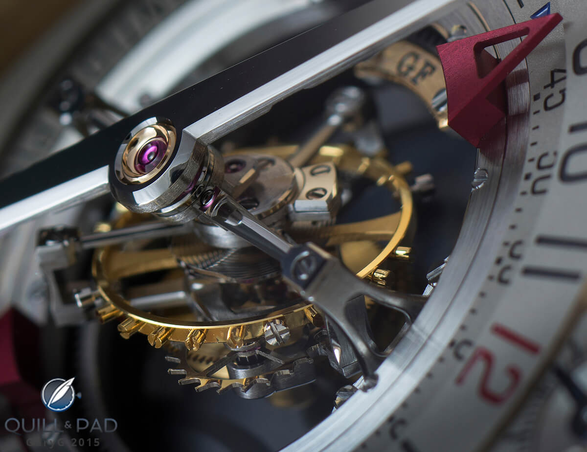 Movement detail: The Greubel Forsey Double Tourbillon, Invention Number One