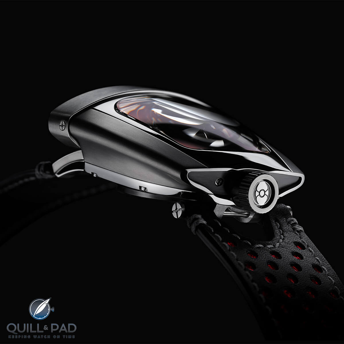 View from the back of the MB&F HMX Red