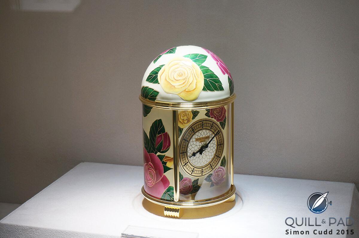 Patek Philippe 20016M English Roses enameled clock