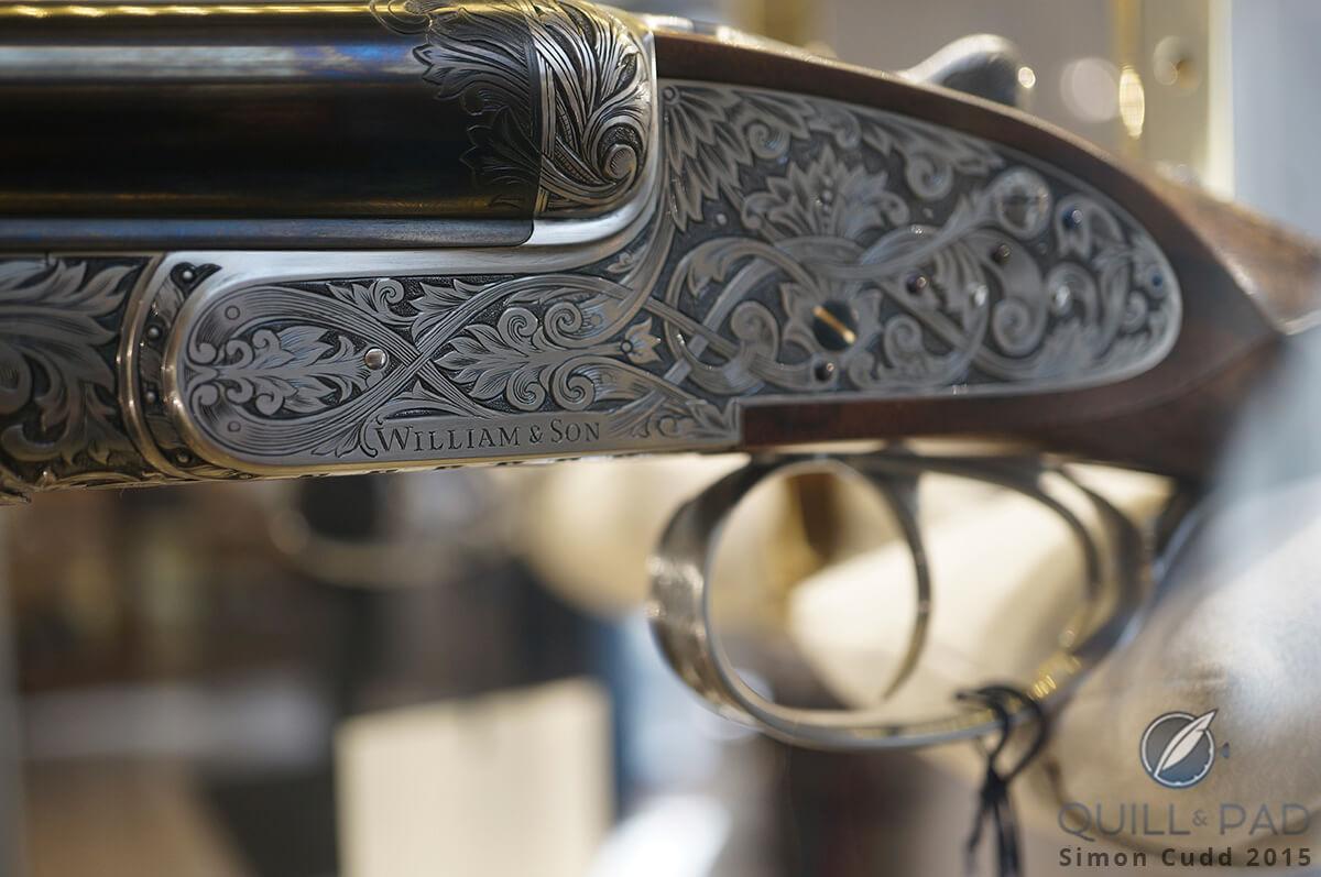 Beautifully engraved shotgun at William & Son, London