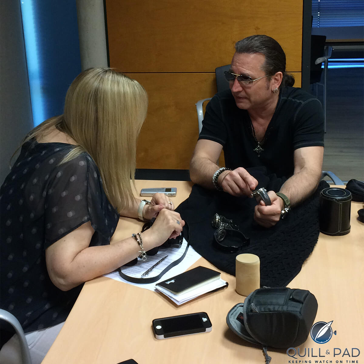 Elizabeth Doerr interviewing Eric Singer of Kiss