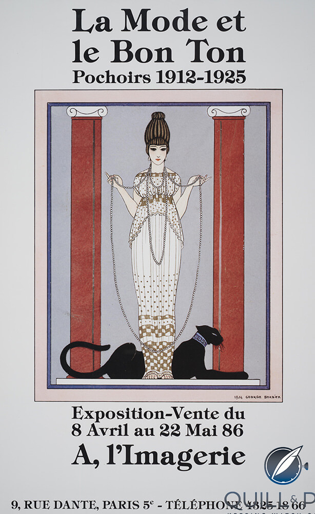 A 1986 publicity poster using the 'Dame à la Panthère' painting by George Barbier for Cartier
