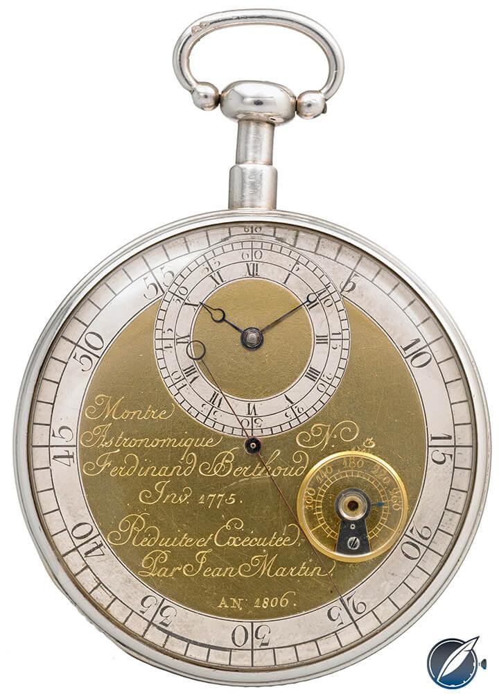 This pocket watch made by Ferdinand Berthoud in 1806 is on display at Chopard's L.U.C.eum in Fleurier