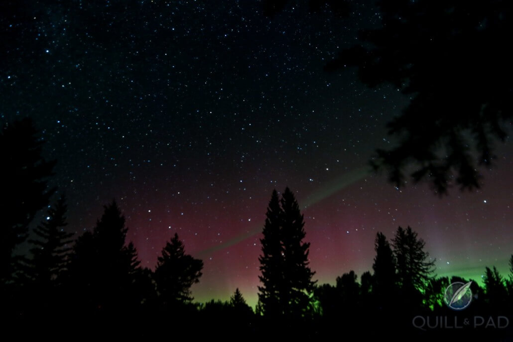 Aurora Borealis shot in Jackson Hole, Wyoming on September 9, 2015