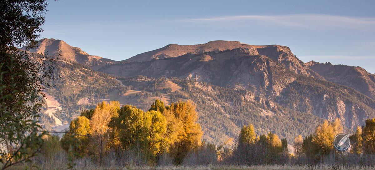 The Teton mountains flank one side of Jackson Hole
