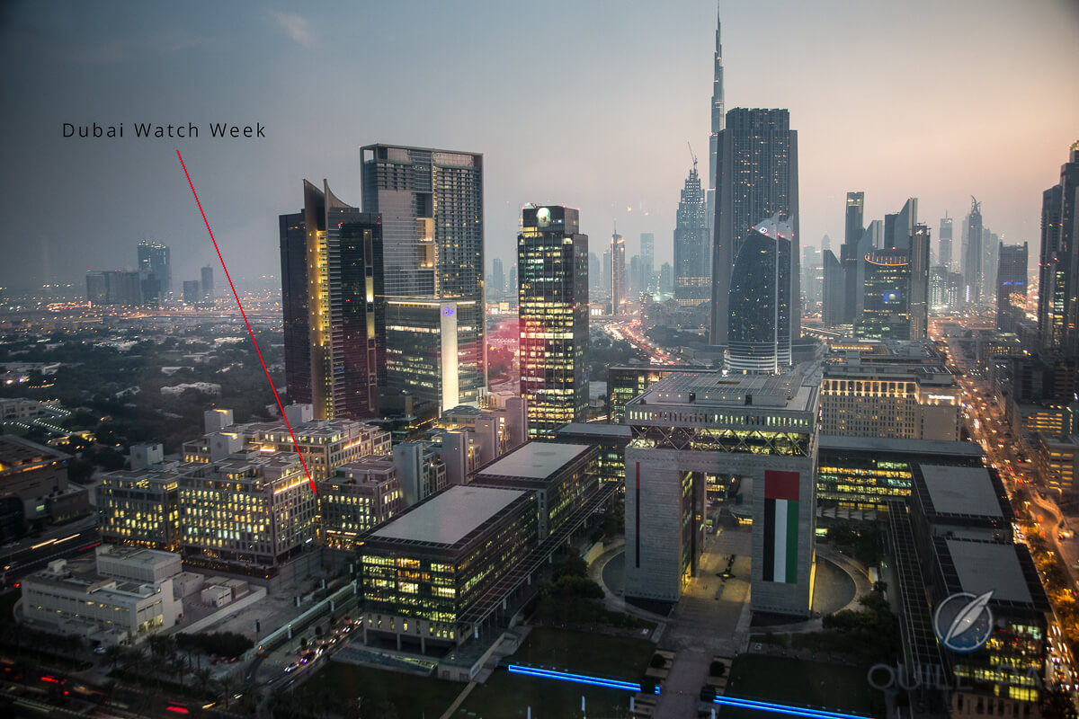 Follow the red arrow to Dubai Watch Week