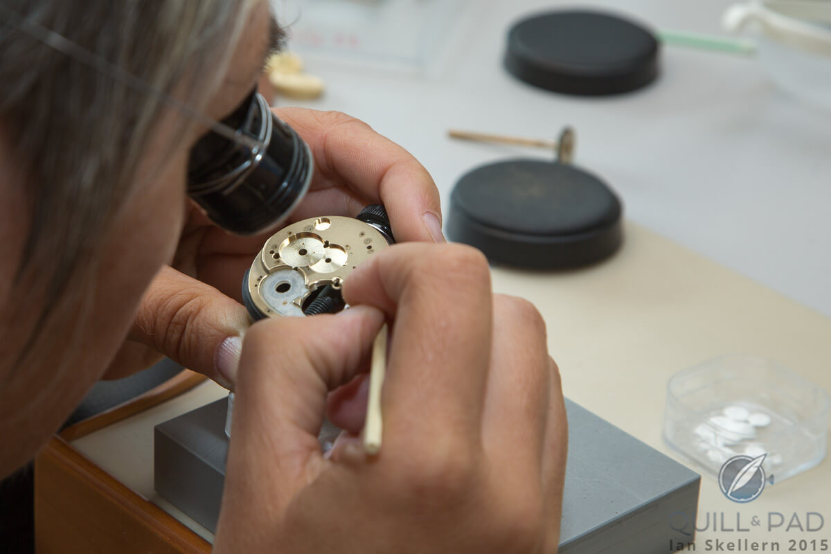 Hand-finishing is taken very seriously at Romain Gauthier