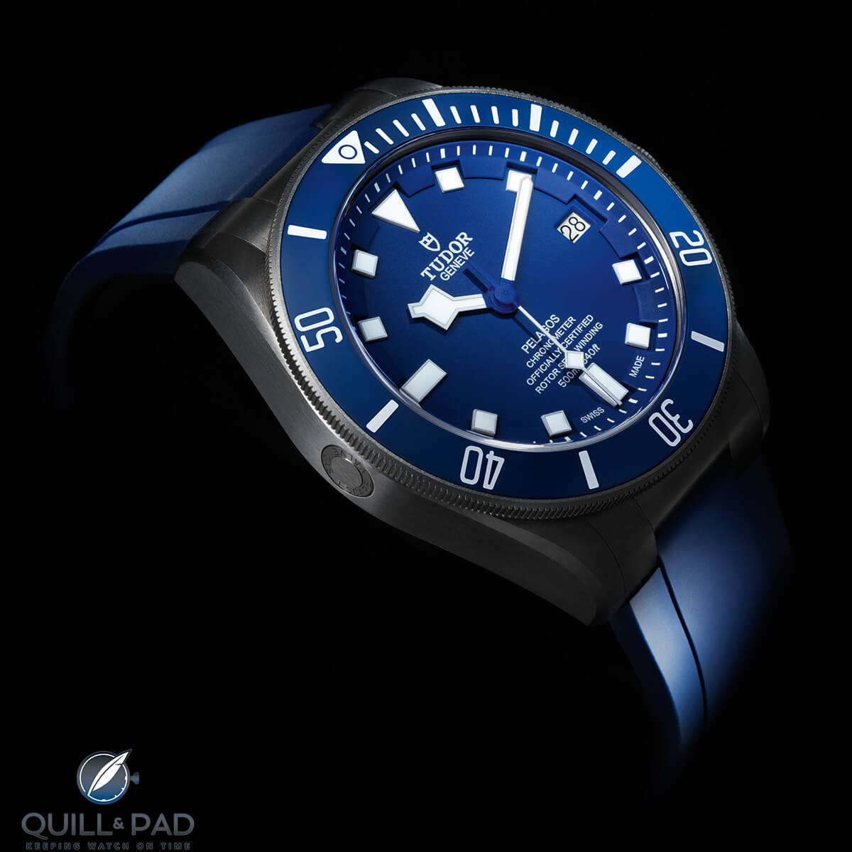 Tudor Pelagos Blue on blue rubber strap