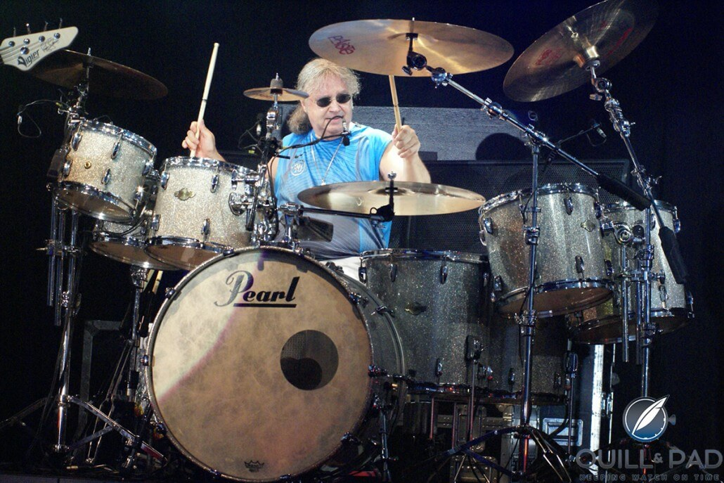 Deep Purple drummer Ian Paice on the job (photo courtesy Paiste)