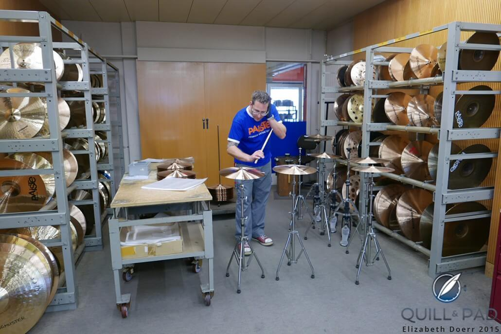 Quality control is performed on every single cymbal at the Paiste factory, and it is all done by ear