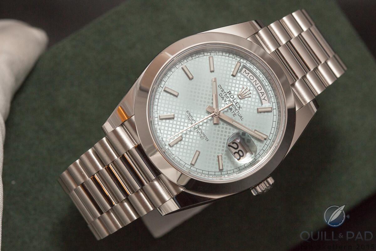Rolex Day-Date 40 in platinium
