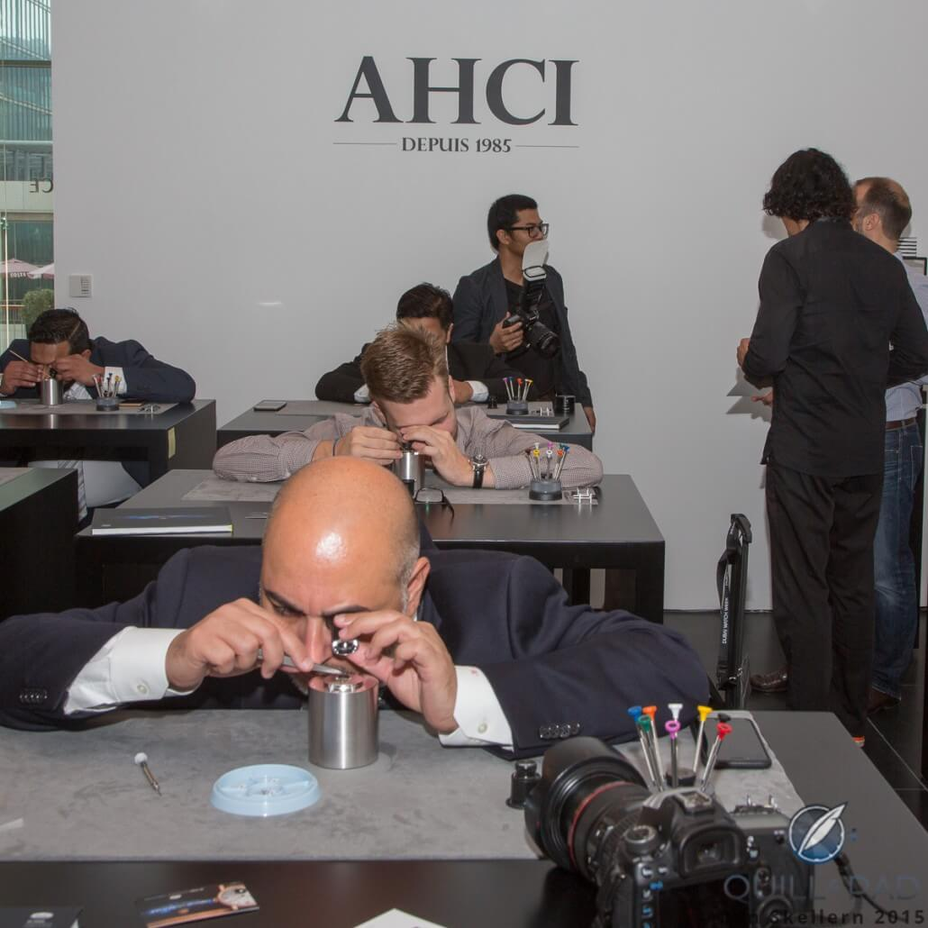 The introductory watchmaker courses were very popular during Dubai Watch Week