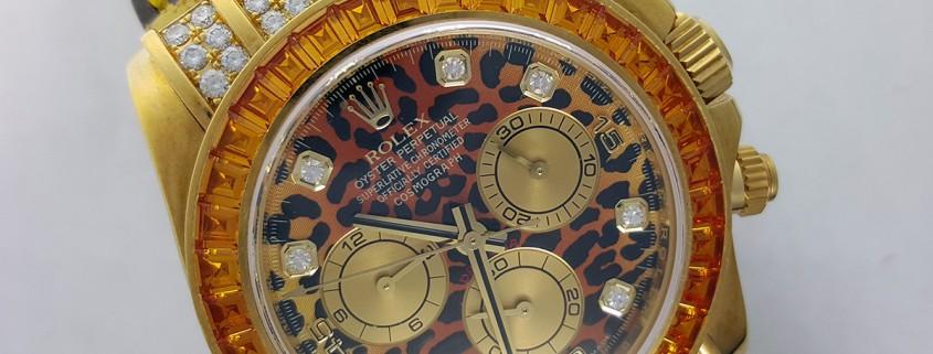 A very subtle Rolex Cosmograph Daytona from the Kim Rothstein liquidation auction (photos courtesy Hess Fine Art