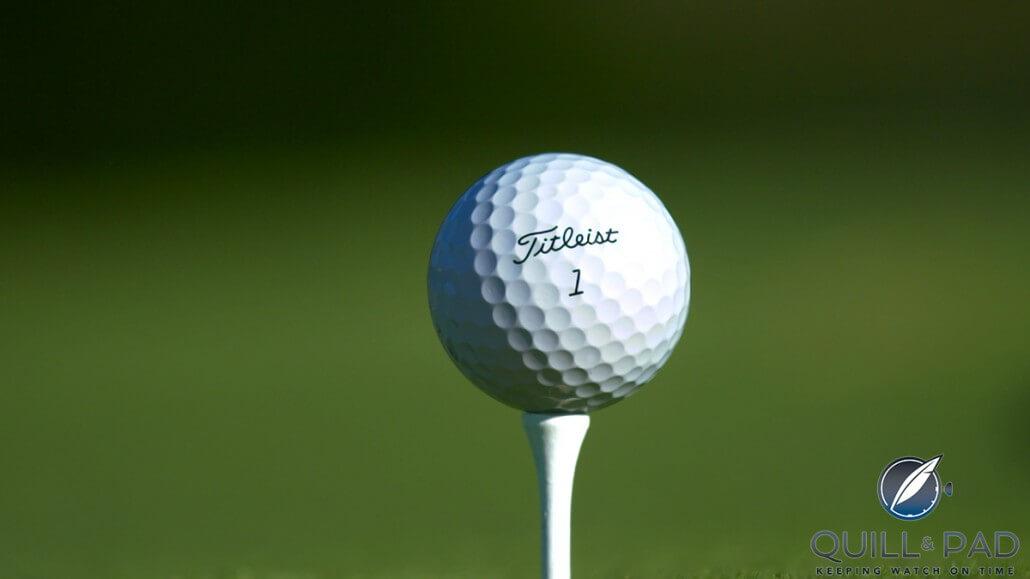 Neatly pad-printed Titleist golf ball