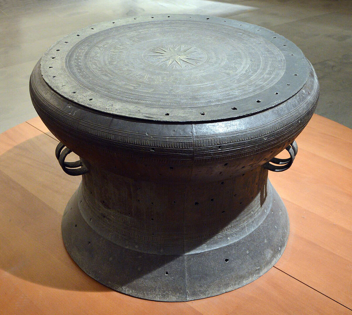 Bronze Dong Son drum believd to be over 2,500 years old
