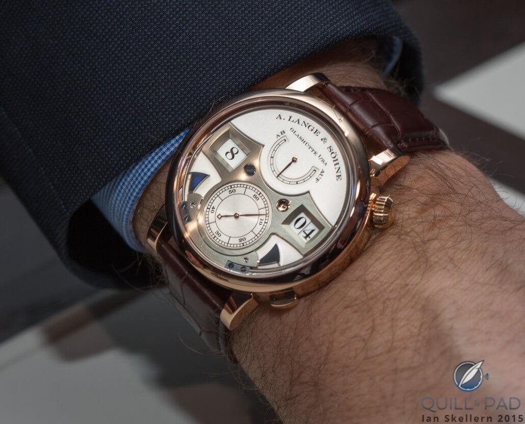 A. Lange & Söhne Zeitwerk Striking Time wristshot