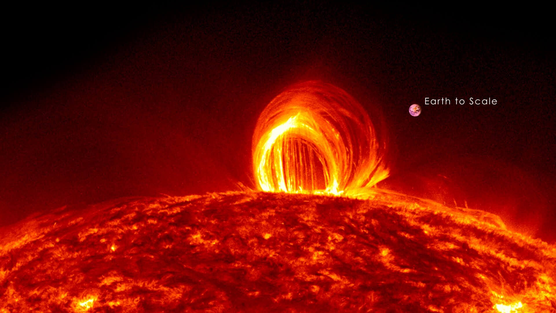 When a loop of magnetic field on the sun snaps it causes a solar flare