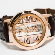 Corum Golden Bridge Ronde in red gold