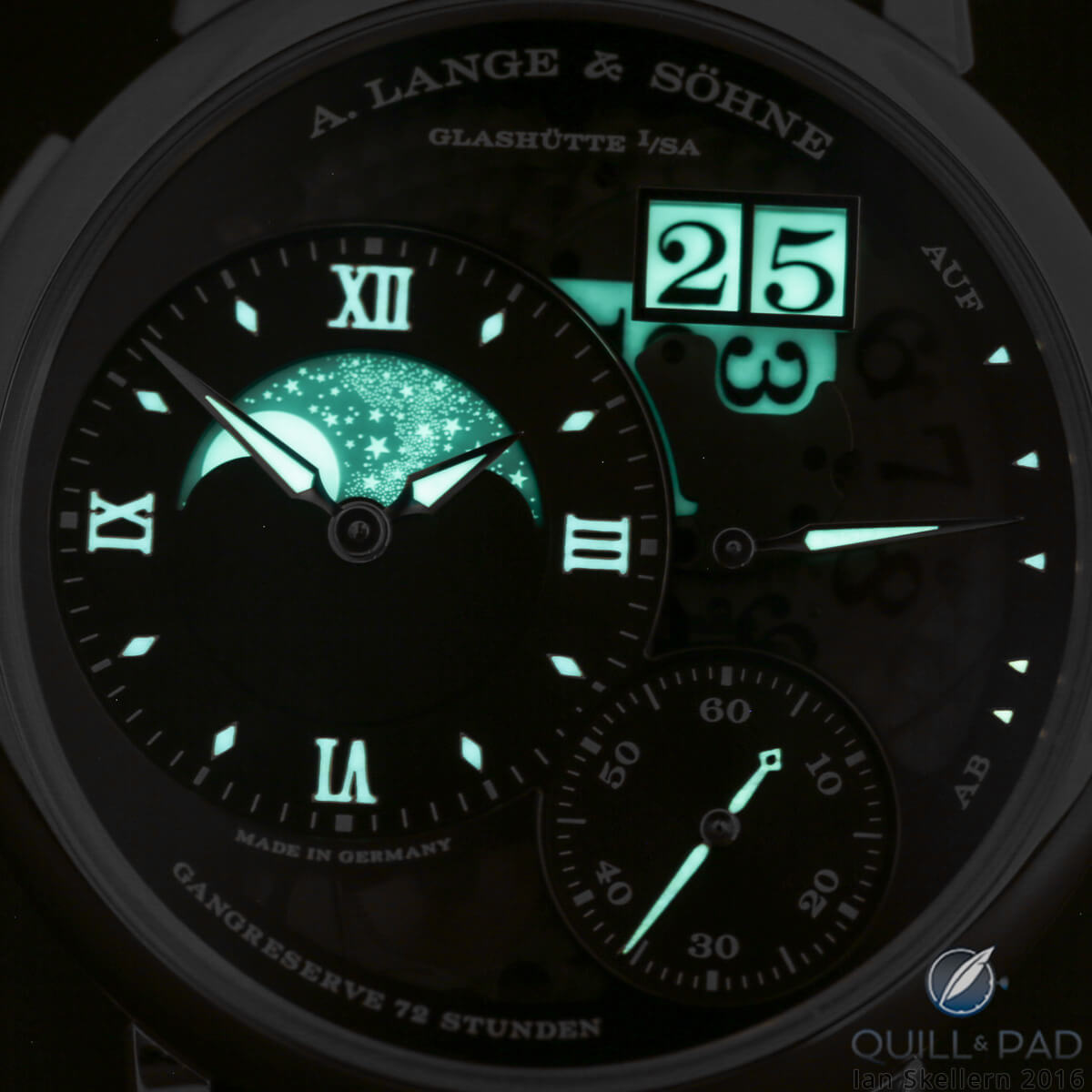 A. Lange & Söhne Grande Lange 1 Moonphase Lumen glowing in the dark