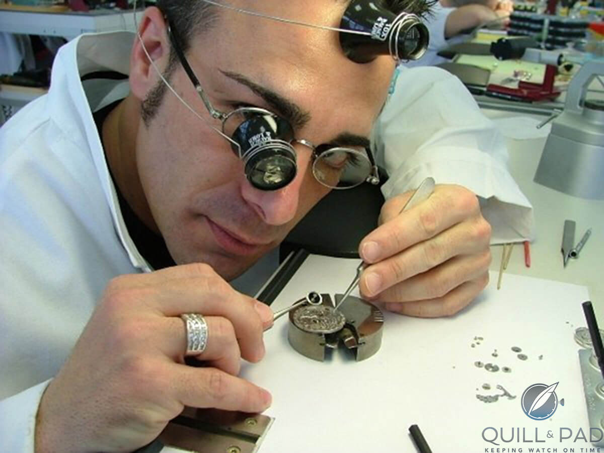 Dan Spitz in his new life as a qualified watchmaker